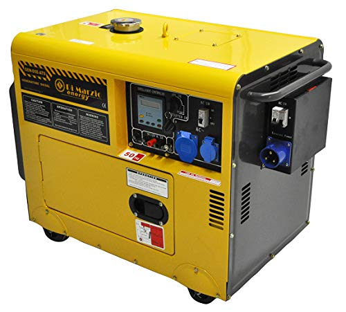 Di Marzio Energy Generador eléctrico 4,5KW - Diesel - Grupo electrógeno insonorizado - Arranque eléctrico Automático ATS