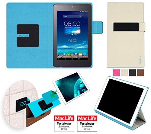 reboon Hülle für Asus FonePad 7 ME372CG Tasche Cover Case Bumper | in Beige | Testsieger