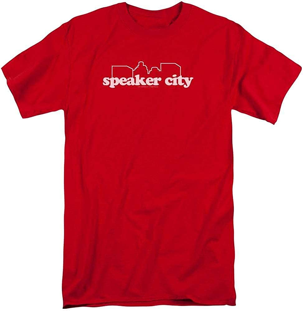 Old School Speaker City Logo Adult Tall Fit T-Shirt