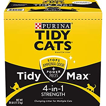 Purina Tidy Cats Clumping Cat Litter Tidy Max 4 in 1 Strength Multi Cat Litter - 38 lb Box