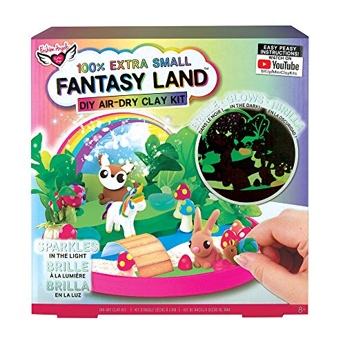 Fashion Angels 100% Extra Small Fantasy Land Clay Kit 12497 Air Dry Clay Gift Set, Multicolor