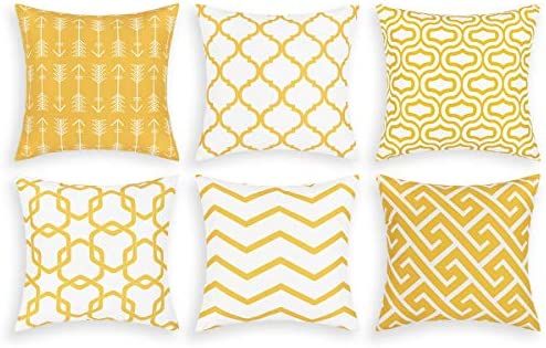 Throw Pillow Covers Set of 6 Modern Decorative Throw Pillow Cases Geometric Pillow Covers Cushion product image