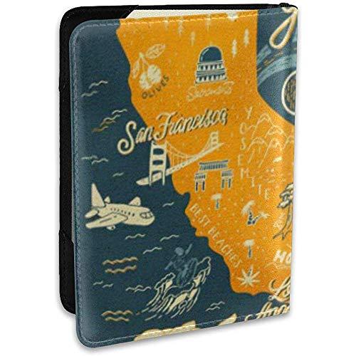 Funda para Pasaporte Aventura de California Mapa Atracciones turísticas...