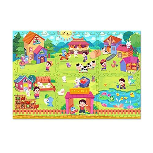 ZI LING SHOP- Bébé enfant filles Tapis de sécurité 2 enfants jouant au tapis de gym Cadeau idéal pour bébé - Alphabet 120 x 180 x 2 cm - Sac de rangement inclus blanket (Color : B)