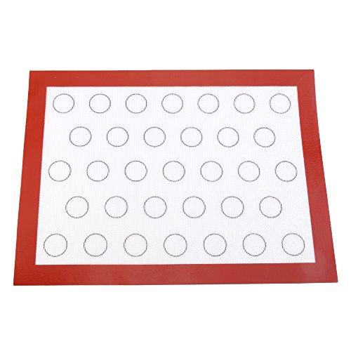 Qinlorgo Tapis de Cuisson en Silicone Flexibles durables, Plaque de Cuisson en Silicone, Faisant du Pudding en Plein air pour Faire du pouding au pouding au Chocolat à la Maison(Red)