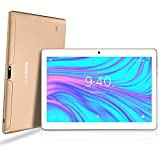 LNMBBS Tablette Tactile 10 Pouces - Android 9.0 , 64Go, 4Go de RAM, 3G Doule SIM, WiFi/Bluetooth/GPS/OTG(Or)
