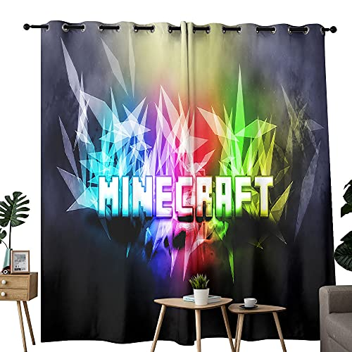 Perforated rod bag curtain Minecraft game cover image Used in the living room to enhance the board bedroom 100'x84'