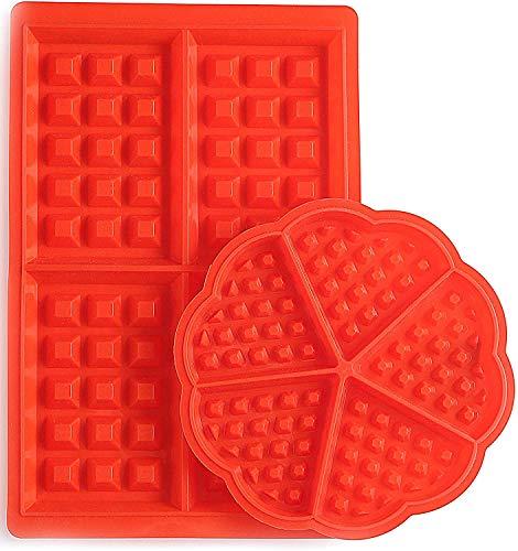 Set de moules à gaufres en silicone Star-Line® avec un bon revêtement antiadhésif