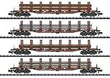 Kit vagón de mercancías N para transporte de acero MHI MiniTrix T15484