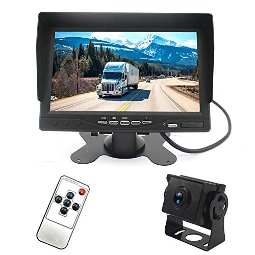 Cámara de respaldo IP67 120 grados Coche AHD 1080P 2 Megapixeles Monitor de espejo retrovisor de 7 pulgadas 1 vía, visión nocturna a todo color