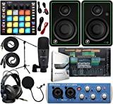 "PreSonus AudioBox 96 Audio Interface Full Studio Kit with Studio One Artist Software Pack w/Atom Midi Production Pad Controller w/Mackie CR3-X Pair Studio Monitors & 1/4"" Instrument Cables"