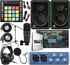 "PreSonus AudioBox 96 Audio Interface Full Studio Kit with Studio One Artist Software Pack w/Atom Midi Production Pad Controller w/Mackie CR3-X Pair Studio Monitors & 1/4"" Instrument Cables"
