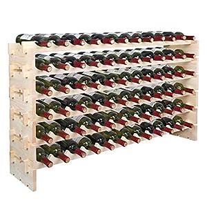 Smartxchoices Stackable Modular 72 Slots Wine Rack Floor Wine Storage Stand...