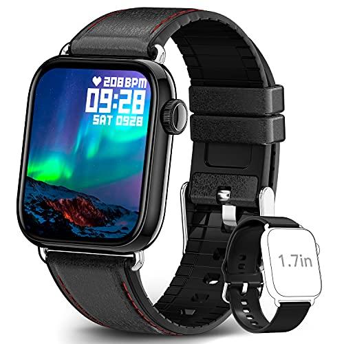 TagoBee Smartwatch Hombre, Relojes Inteligentes Hombre Mujer Impermeable IP68 con Pantalla Táctil de 1.69'' Pulsómetro, Cronómetros, Calorías, Monitor de Sueño, Reloj Deportivo para Android iOS