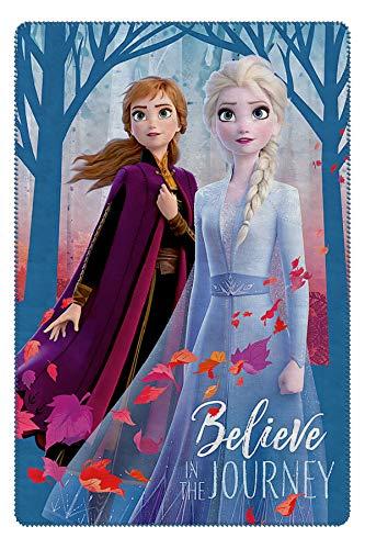 Character Cartoons Fleecedecke, 100 x 140 cm, Full Print Disney Frozen Ii Blu