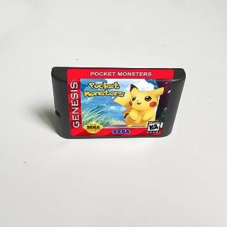 Lksya Pocket Monsters - Carte de jeu MD 16 bits pour cartouche de console de jeu vidéo Sega Megadrive Genesis (coque japon...