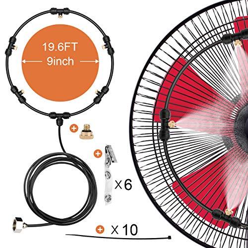 HONYOU Fan Misting Cooling Kit for DIY Outdoor Mist Fan 19.6 Ft (6M)