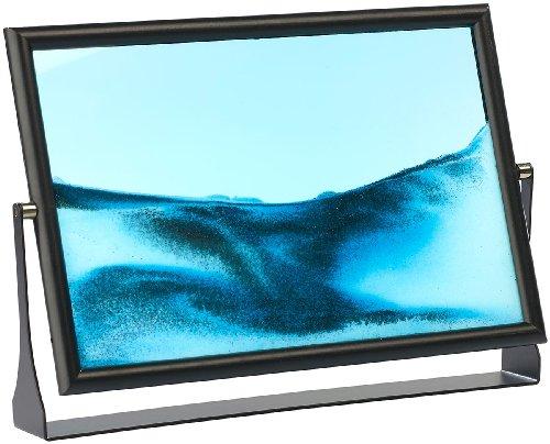 infactory Sandbilderrahmen: Sandbild Blue Ocean 30,5 x 20cm (Kippbild)