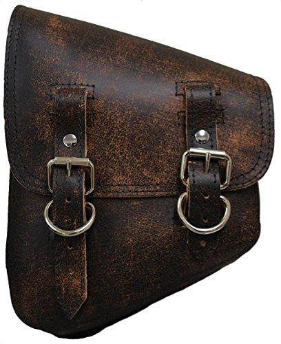 La Rosa Design Harley-Davidson All Softail Models Left Side Solo Saddle Bag Swingarm Bag Rustic Brown Plain