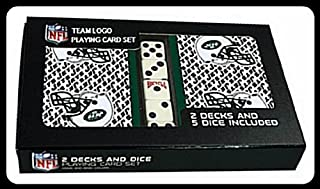 NFL Officially Licensed New York Jets 2 Packs of Playing Cards with Dice