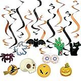 Jonami Decoracion Halloween Casa – 20 Artículos Decorativos para Colgar, Halloween Hanging Swirls