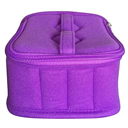 Vococal® Sac de Rangement pour 5ml 15ml Bouteille d'Huile Essentielle Storage,Violet