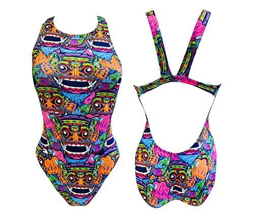 Turbo Damen Bali Tribal Bikini-Unterteile, Royal, X-Large