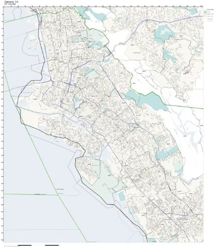 depot Working Maps Zip Code Wall Map Spasm price L Oakland Not of CA