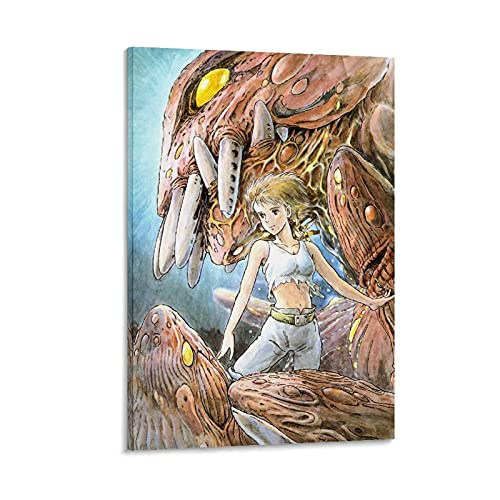 KKMM Anime Moiev Poster su tela Nausicaa della valle del vento, stampa artistica su tela e stampa artistica da parete, 20 x 30 cm
