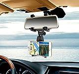 Eximtrade Universale Auto Supporto Telefono Specchietto Retrovisore per Apple iPhone 4/4s/5/5s/6/6s/6 Plus/6s Plus, Samsung Galaxy S4/S5/S6/S6 Edge/S6 Edge Plus/S7 Edge/Note 3/Note 4/Note 5, HTC One, Motorola, Sony Xperia, altro Smartphones