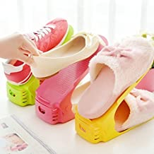 Inditradition 2 in 1 Adjustable Shoe Slot Organizer, Shoe Storage Slot (Pack of 4)