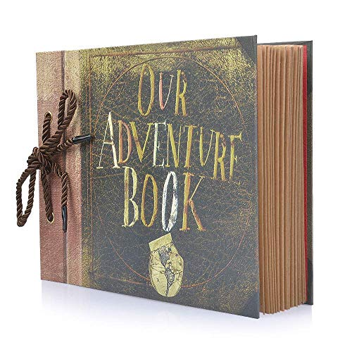 Qiajie Adventure Photo Album Scrapbook, DIY Handmade Album Scrapbook Regalo perfecto para bodas de aniversario Aniversario