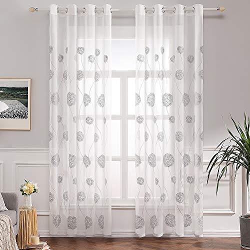 cortinas salon gris con negro