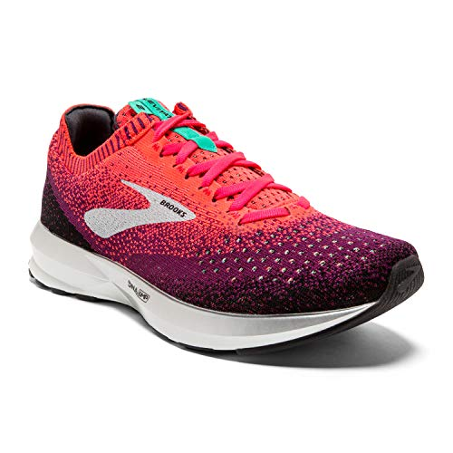 Brooks Womens Levitate 2 Running Shoe - Pink/Black/Aqua - B - 7.5
