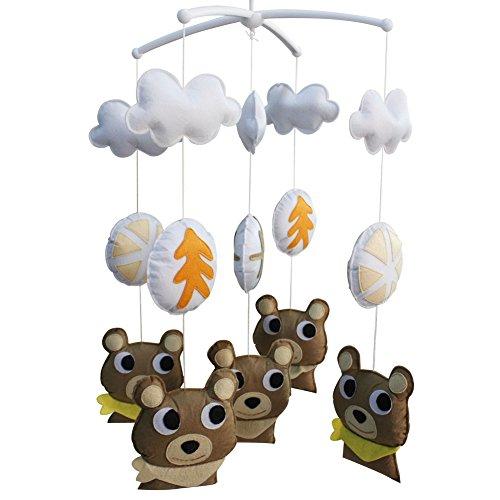 Berceau de lit de bébé rotatif coloré jouets de bébé [Ours curieux]