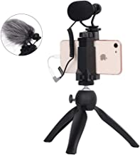 Comica Smartphone Video Kit CVM-Vm10-K2 Filmmaker Mini Tripod with Shotgun Video Microphone Video Rig for iPhone and Android