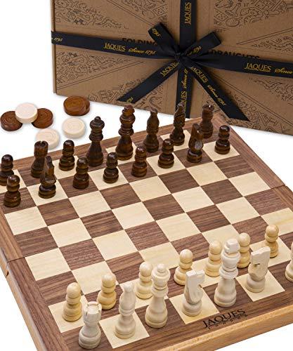 Jaques of London Premiere Chess Holz und Schachbrett Holz - Perfekte Familie Brettspiele und Spiele seit 1795