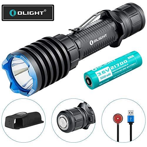 OLIGHT Warrior X Pro LED Taschenlampe 2250 Lumen, 600 Meter Reichweite Leistungsstark mit USB Wiederaufladbarer Superhelle Taktische Lampe IPX8 Wasserdicht, 21700 Batterie für Jagd, Camping,Wandern