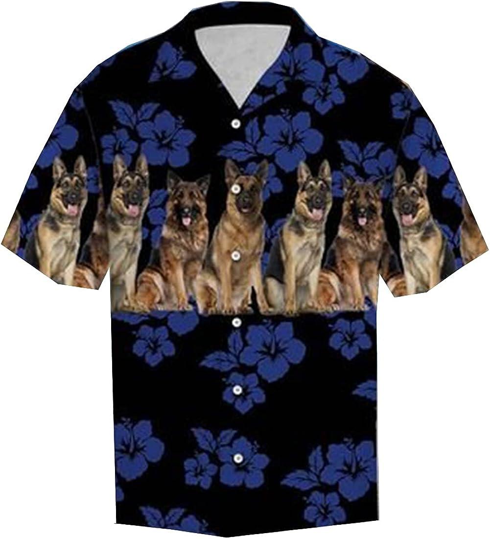 Dog Hawaiian Shirts for Men Women - Pet Casual Aloha Beach Shirt Button Down Collection 36 Size