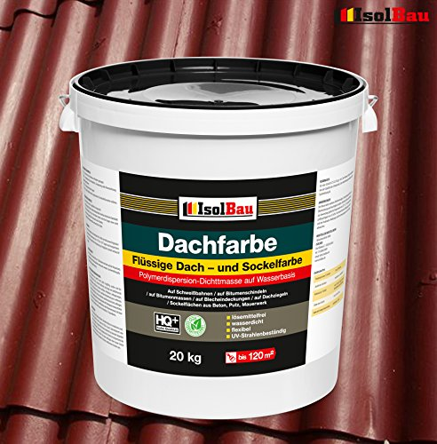 Dachfarbe Sockelfarbe Dachbeschichtung Dachlack Dachsanierung Polymermembran 20 kg Ziegelrot