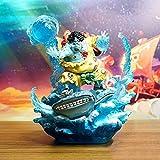 Un Pedazo de Anime Ballena de Ballena muñeca Lucha contra el Rey Xia Wuhai Seaman es Muy Plano en la versión de Batalla de la Estatua Modelo de Juguete Figura 21 cm de Altura
