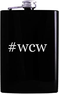 #wcw - 8oz Hashtag Hip Alcohol Drinking Flask, Black