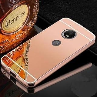 Capa Case Bumper Alumínio Espelhada Motorola Moto G5 Tela 5.0 XT1672 Rosa