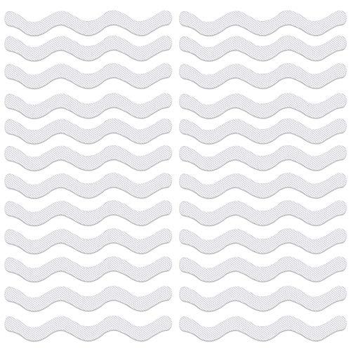 YunBey 24 Pezzi Strisce Adesive Antiscivolo Trasparenti per Vasca da Bagno e Scale Strisce Antiscivolo per Doccia per Scale, Piscine, Pavimenti dei Bagni