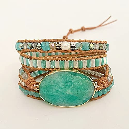 Top Max 43% OFF Handmade Multi Limited Special Price Wrap Bracelet Natural Weav Vintage Opal Stone