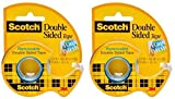 Scotch : 667 Double-Sided Removable Office Tape & Dispenser, 3/4' x 400' -:- Sold as 2 Packs of - 1 - / - Total of 2 Each
