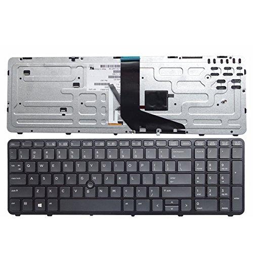 gotor® ZBOOK 15 17 PK130TK1A00 SK7123BL対応交換用 バックライト付き US キーボード ブラック