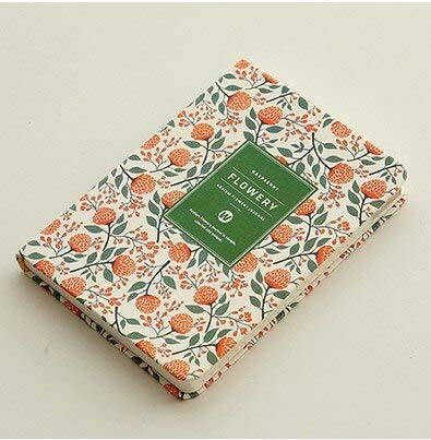WanTo 2pcs Fresh flower diary book, shedule boo, planing book, noteboke,colorful pages,Light green