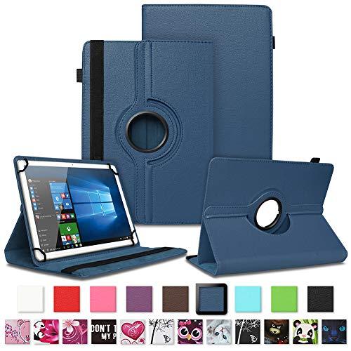 NAUC Schutzhülle für Vodafone Tab Prime 6/7 Tablet Tasche 360° drehbar Schutz & Design Hülle Universal Cover Tablettasche, Farben:Blau