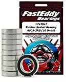 FastEddy Bearings 17x30x7 Rubber Sealed Bearing 6903-2RS (10 Units)